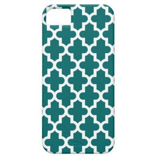 Coque Case-Mate iPhone 5 Motif marocain moderne turquoise foncé