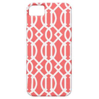 Coque Case-Mate iPhone 5 Motif moderne de corail de treillis