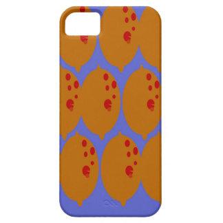 Coque Case-Mate iPhone 5 Or de citrons de conception sur le bleu