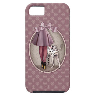 Coque Case-Mate iPhone 5 Parisienne et son dalmatien en promenade