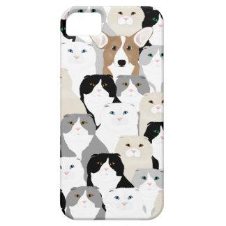 Coque Case-Mate iPhone 5 Se d'iPhone de chats et de chiens +cas