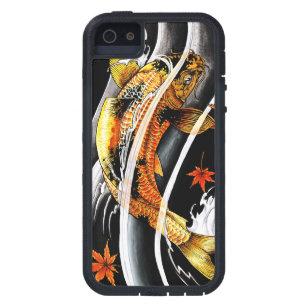 Coque Case-Mate iPhone 5 Tatouage chanceux de poissons de Koi d'or japonais