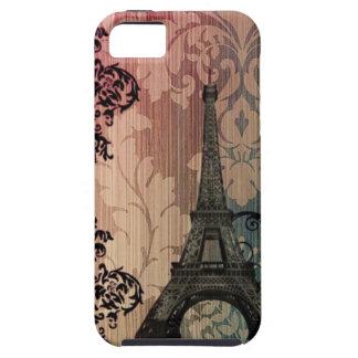 Coque Case-Mate iPhone 5 Tour Eiffel romantique de Paris de damassé