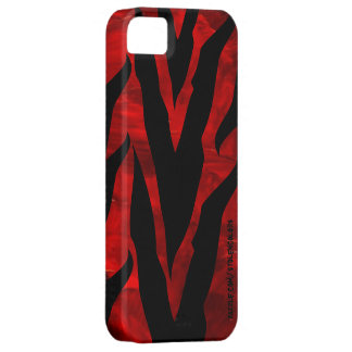 Coque Case-Mate iPhone 5 Zèbre Iphone rouge 5