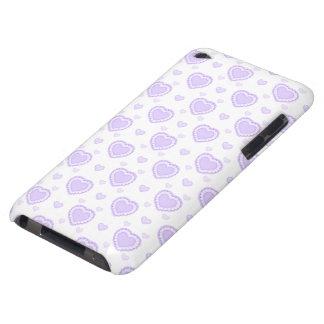 Coque Case-Mate iPod Touch Coeurs lilas et blancs romantiques