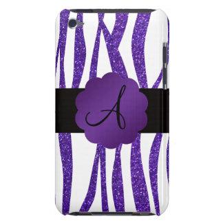 Coque Case-Mate iPod Touch Rayures pourpres de parties scintillantes de