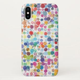 Coque iPhone X Baisse de peinture d'aquarelle de cas de l'iPhone