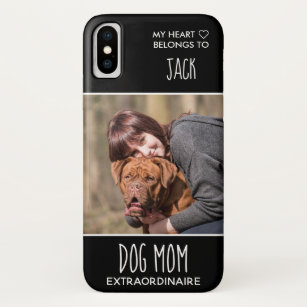 Coque Case-Mate Pour iPhone Personnalisé Photo Dog Mom Black Pet