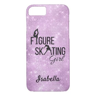Coque Case-Mate Pour iPhone Phone case Figure skating girl purple sparkle