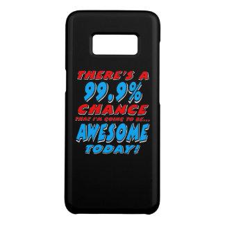 Coque Case-Mate Samsung Galaxy S8 99,9% ALLER ÊTRE IMPRESSIONNANT (blanc)
