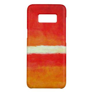 Coque Case-Mate Samsung Galaxy S8 Art abstrait moderne - blanc jaune rouge