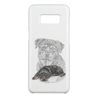 Coque Case-Mate Samsung Galaxy S8 Art de chien de rottweiler
