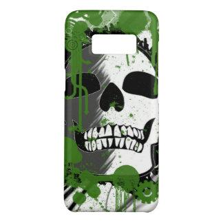 Coque Case-Mate Samsung Galaxy S8 Art vert de graffiti de tête de crâne