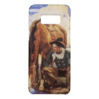 Coque Case-Mate Samsung Galaxy S8 Art vintage, cowboy arrosant son cheval par OR