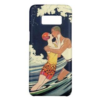 Coque Case-Mate Samsung Galaxy S8 Baiser vintage d'amants d'art déco dans les vagues