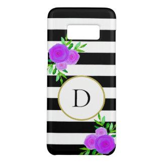 Coque Case-Mate Samsung Galaxy S8 Blanc floral pourpre à la mode de noir de