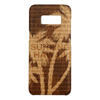 Coque Case-Mate Samsung Galaxy S8 Bois surfant de Faux de palmiers d'Hawaï tropical