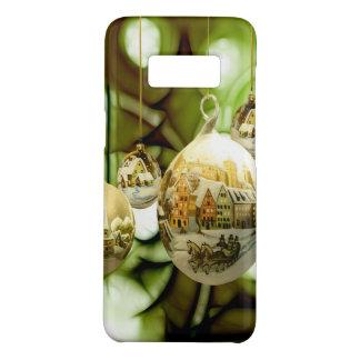 Coque Case-Mate Samsung Galaxy S8 boules d'arbre de Noël avec la neige la Floride de