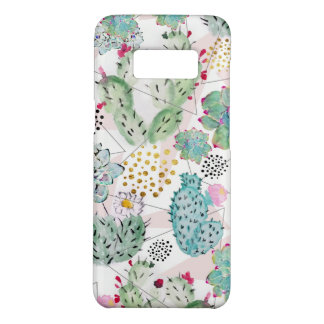 Coque Case-Mate Samsung Galaxy S8 cactus d'aquarelle et motif de triangles