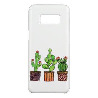 Coque Case-Mate Samsung Galaxy S8 Cactus mignon d'aquarelle dans des pots