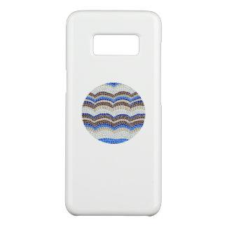 Coque Case-Mate Samsung Galaxy S8 Caisse bleue ronde de la galaxie S8 de Samsung de