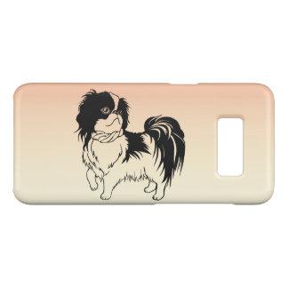 Coque Case-Mate Samsung Galaxy S8 Caisse orange de la galaxie S8 de chien noir et