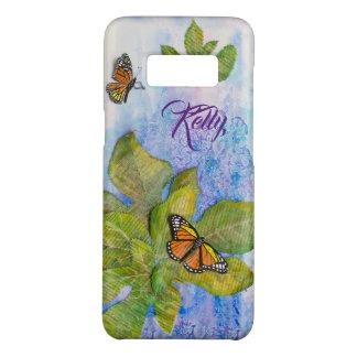 Coque Case-Mate Samsung Galaxy S8 Caisse personnalisée de téléphone avec le papillon