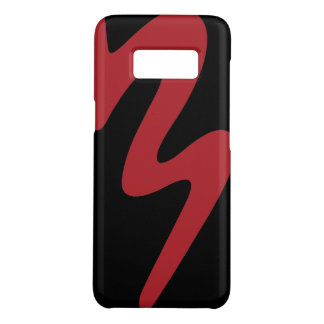 Coque Case-Mate Samsung Galaxy S8 Caisse rouge de téléphone portable de logo de la