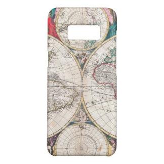 Coque Case-Mate Samsung Galaxy S8 Carte antique du monde de Double-Hémisphère
