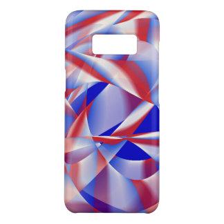 Coque Case-Mate Samsung Galaxy S8 Couverture rouge, blanche et bleue patriotique de