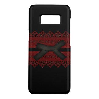 Coque Case-Mate Samsung Galaxy S8 Dentelle rouge noire gothique sophistiquée