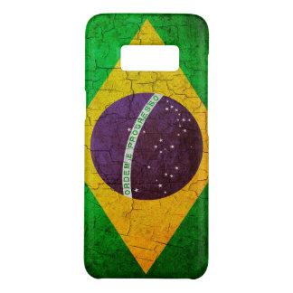 Coque Case-Mate Samsung Galaxy S8 Drapeau brésilien vintage sur un arrière - plan