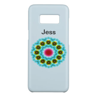 Coque Case-Mate Samsung Galaxy S8 fleur de bleu de mandala