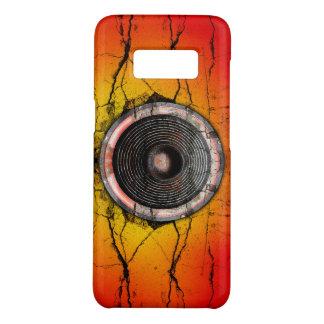Coque Case-Mate Samsung Galaxy S8 Haut-parleur rouge et orange criqué de musique