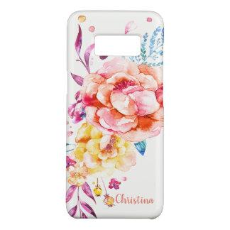 Coque Case-Mate Samsung Galaxy S8 Jolie aquarelle de corail chic Girly faite sur