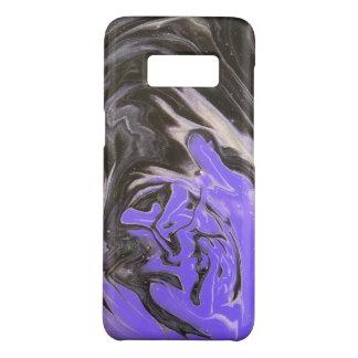 Coque Case-Mate Samsung Galaxy S8 L'acrylique pourpre d'anneau d'arbre noir et