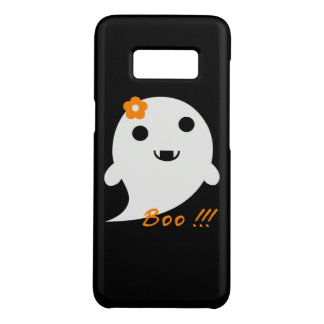"""Coque Case-Mate Samsung Galaxy S8 Le fantôme mignon avec la fleur et le mot """"huent """""""