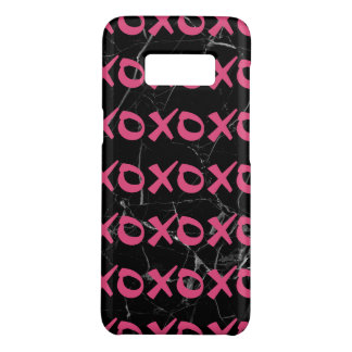 Coque Case-Mate Samsung Galaxy S8 Le xoxo girly mignon de marbre de noir de roses
