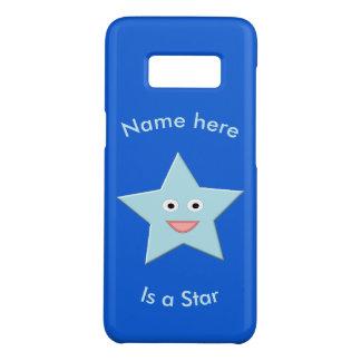 Coque Case-Mate Samsung Galaxy S8 L'étoile bleue lumineuse Samsung fait sur commande