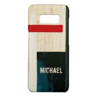Coque Case-Mate Samsung Galaxy S8 Lignes et inscriptions en bois rustiques de