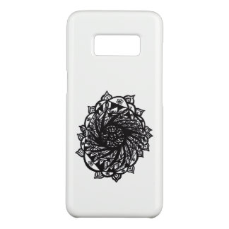 Coque Case-Mate Samsung Galaxy S8 Mandala noir 2 de fleur