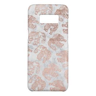 Coque Case-Mate Samsung Galaxy S8 Marbre rose de blanc d'éléphants de Paisley d'or