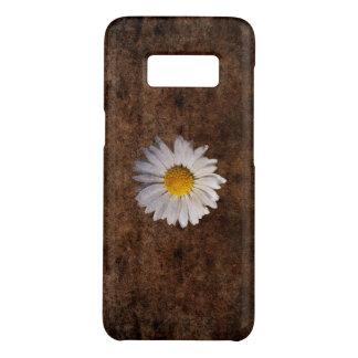 Coque Case-Mate Samsung Galaxy S8 Marguerite grunge sur un arrière - plan brun