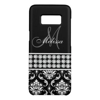 Coque Case-Mate Samsung Galaxy S8 Monogramme Girly personnalisé de diamants de