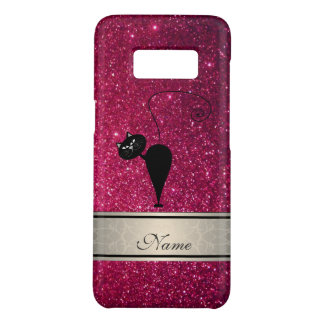 Coque Case-Mate Samsung Galaxy S8 Monogramme scintillant à la mode girly mignon