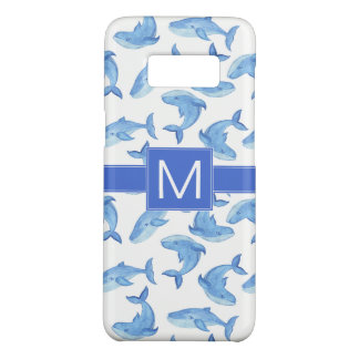 Coque Case-Mate Samsung Galaxy S8 Motif de baleine bleue d'aquarelle