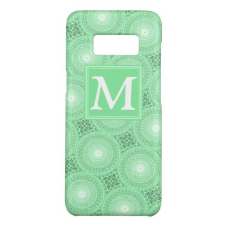 Coque Case-Mate Samsung Galaxy S8 Motif de cercles de vert de ressort de monogramme