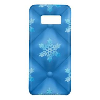 Coque Case-Mate Samsung Galaxy S8 Motif de flocon de neige de Noël de bleu royal