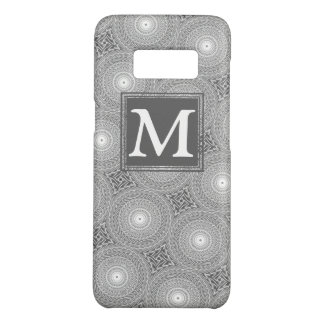 Coque Case-Mate Samsung Galaxy S8 Motif gris de cercles de monogramme
