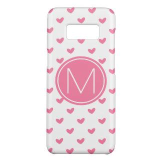 Coque Case-Mate Samsung Galaxy S8 Motif minuscule blanc rose élégant de coeur de